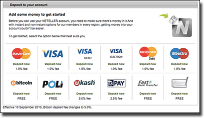 Neteller available funding methods