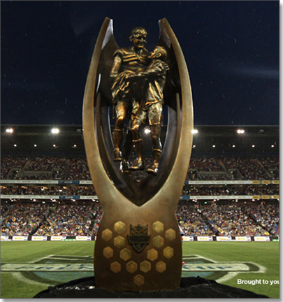 The coveted NRL trophy