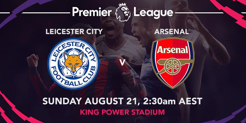 Draw & goal scorer odds for EPL week 2, Leicester City vs Arsenal