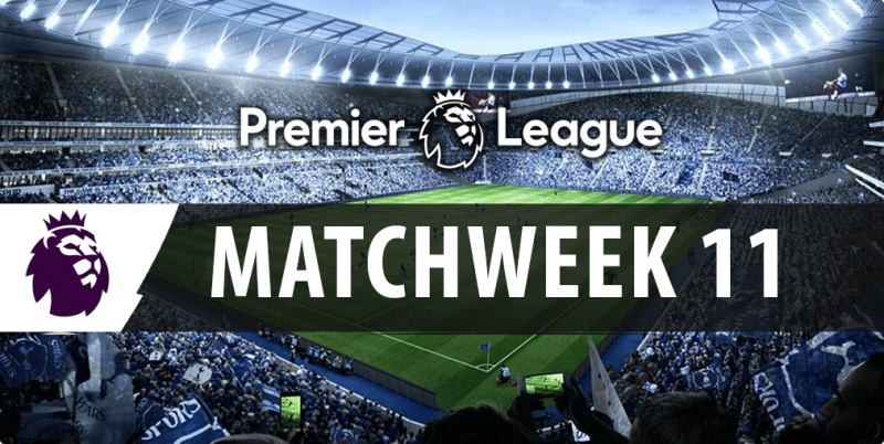 Best bets and tips for the 2016/17 Week 11 EPL multi