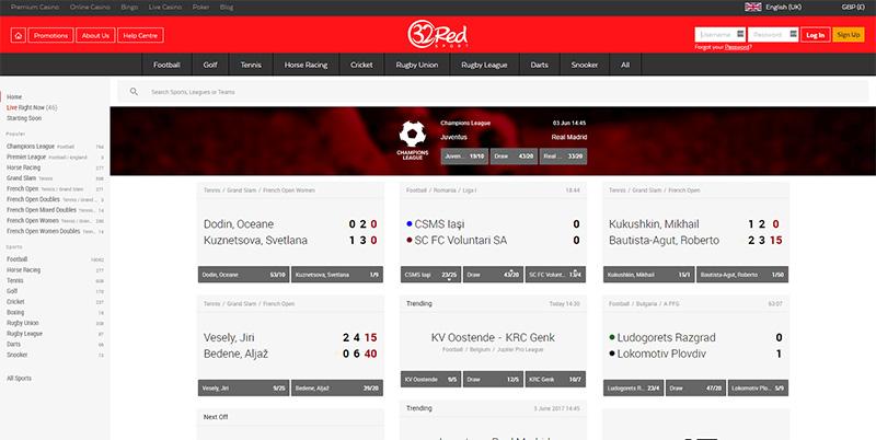 32Red Sports Screenshot